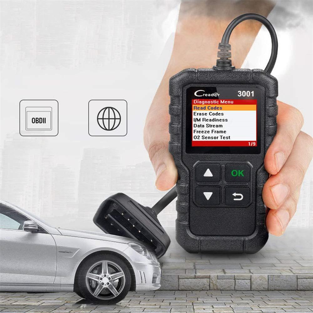 CR3001 X431 Creader 3001 OBD2 Scanner Automotive Car Diagnostic Check Engine Light O2 Sensor Systems OBD Code Readers Scan Tools