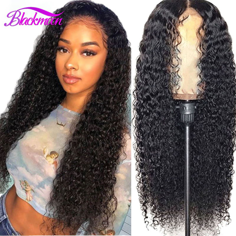 Brazilian Curly Lace Front Wigs For Black Women Pre Plucked Remy Deep Curly 13x4 Swiss Lace Human Hair 4x4 Lace Closure Wigs