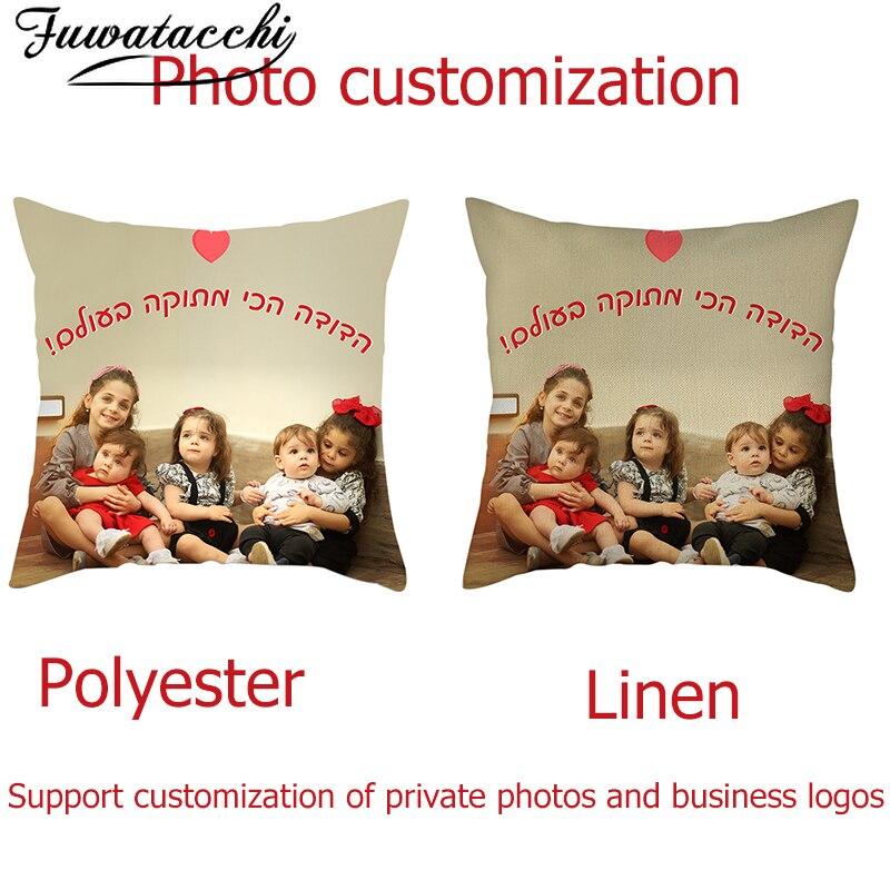 Fuwatacchi пользовательские накидки на подушки, личных фотографий печатных наволочки для украшения дома, дивана, автомобильный чехол для подушки Подушка Чехол 45 см|Наволочка|   | АлиЭкспресс
