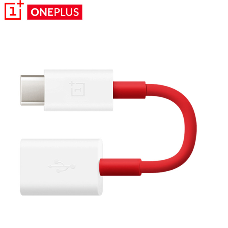 Original Oneplus USB C To USB Adapter Type C OTG Cable For Oneplus 7T 7 6 6T 5t 5 3 Pro  OTG Type-C Adapter Converter Cable