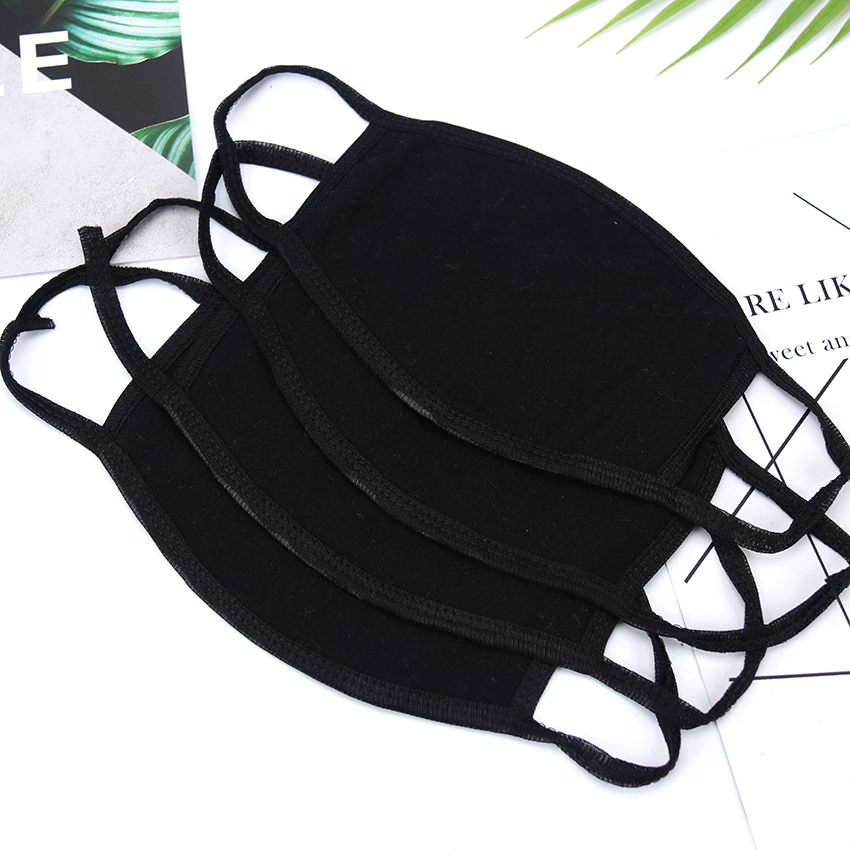 1PC Cotton Dustproof Mouth Face Mask Black Cycling Anti-Dust Breathable Earloop Mouth Face Mask Winter Warm Masks