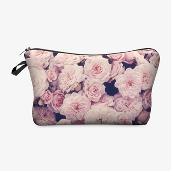 3D Printing Roomy Cosmetic Bag Fashion Women Makeup Bags Waterproof Cosmetics Pouchs For Travel