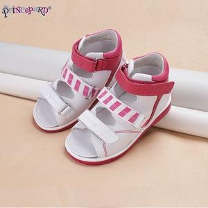 Image 5 - Princepardガールズサンダルキッズ整形外科革の靴甘いプリンセスピンクとブルー矯正sandalas男の子の女の子のため