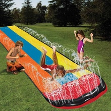 Slide-Games Water-Toys Lawn Swimming-Pool Garden Outdoor Inflatable Children Summer Rider