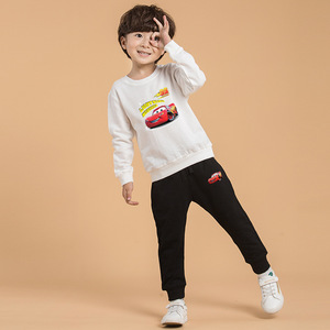 Image 5 - Childrens Sets spring and autumn new childrens clothes 100% cotton childrens sweater + trousers cartoon boy girl suit