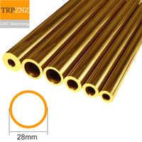 Tubo de latón H62, diámetro exterior 28mm, espesor de pared 3mm, interior 22mm, tubo de cobre, hueco capilar