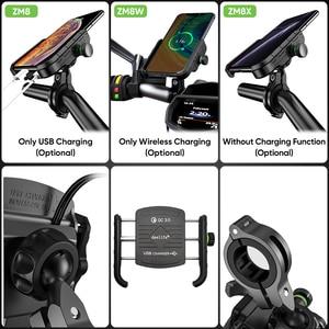 Image 5 - Deelife Motorrad Telefon Halter Motorrad Mobilen Smartphone Unterstützung für Moto Motor Lenker Ständer Halterung mit QC 3,0 Ladegerät