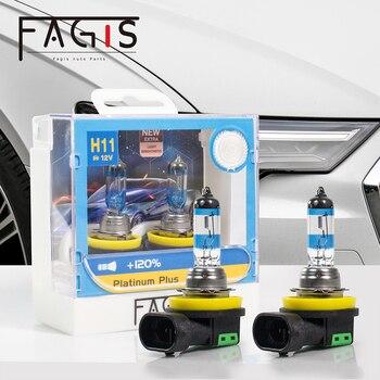 Fagis 2 Pcs 55W H11 H4 9006 Hb4 12V Halogen Lamp Super White Quartz Glass Xenon Car Fog HeadLight Bulb Auto Headlight цена 2017