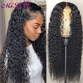 30 Inch Curly Lace Front Human Hair Wigs Brazilian 13x4 Lace Frontal Wigs for Women Human Hair 4x4 Closure Deep Wave Frontal Wig