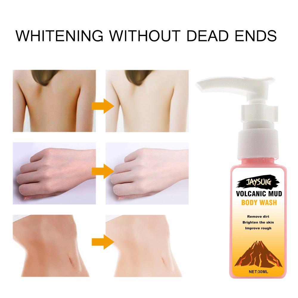 Bellylady Volcanic Mud Shower Milk Body Wash Whitening Deep Cleansing Skin Care Moisturizing Exfoliating Gel