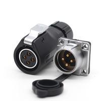 XHP20, IP67 Водонепроницаемый 4-контактный светодиодный Мощность кабель коннектор Высокая Напряжение авиационным соединителем электрические М...