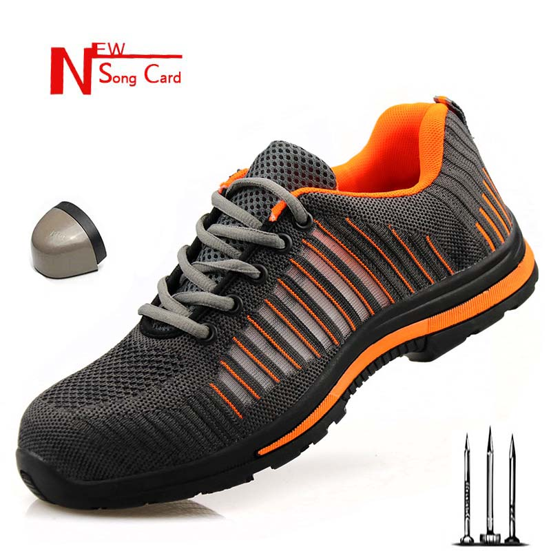 2019 Fashion Men's Outdoor Breathable Mesh Light And Comfortable Steel Head Protection Work Shoes Boots Safety Boots Protection