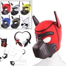 Padded Hood-Mask Dogtail-Plug Puppy-Play Bdsm Pet Neoprene Slave Sex-Toy Roleplay Bondage