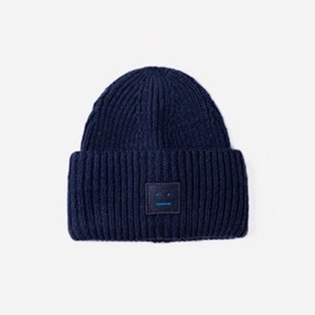 2020 New Acne unisex women's autumn and winter hats Angora100% double layer warm hat Skulies wool hat Warm knitted hat 7