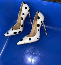 Women Pumps White Red Pointed Toe High Heels Slip On Stiletto Heeled Wedding Party Prom Dress Shoes Plus 46 100% Real Picture