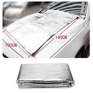 1.4*1m Car Sound Deadener Mat Noise Bonnet Insulation Deadening Hood Engine Firewall Heat Aluminum Foam Sticker Auto Accessories