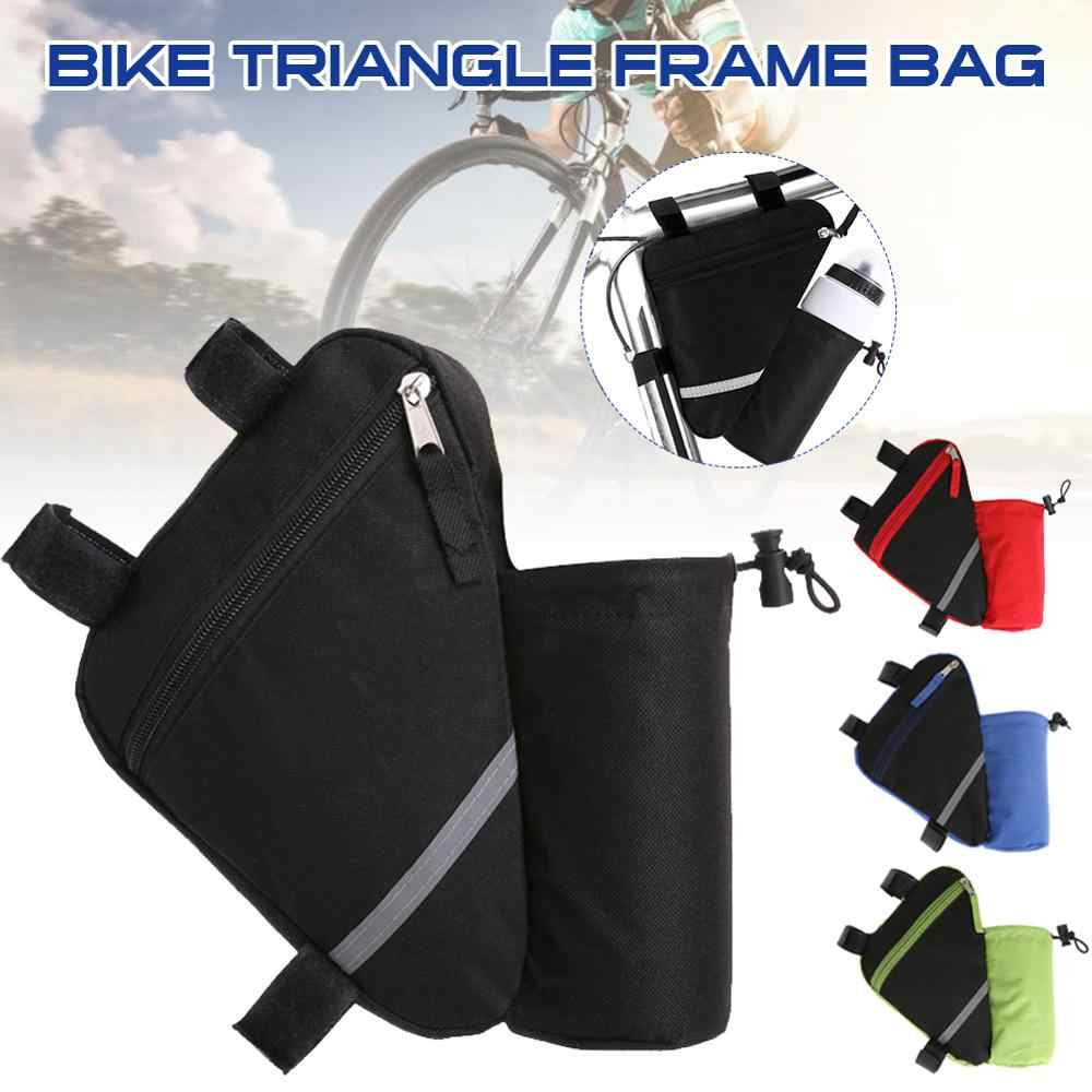 Bicycle Bag Mountain Bike Triangle Frame Bag With Zip Pouch And Water Bottle Holder Under Saddle Bag Kit Riding Accessories Bicycle Bags Panniers Aliexpress