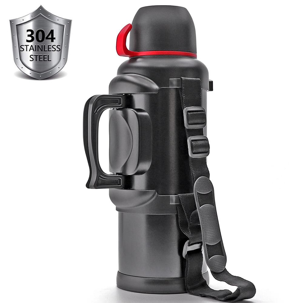 Grande bouteille Thermos de voyage en acier inoxydable pour café thé eau Double paroi isolée sous vide, 135Oz, 36 heures chaude + 48 heures froide