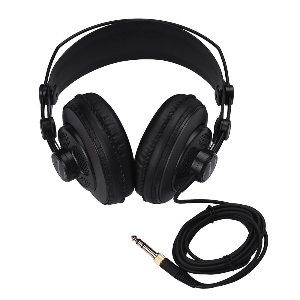 SAMSON SR850 Studio Reference Monitor Headphones Dynamic Headset Semi-open Design For Recording Monitoring Music Game Playing