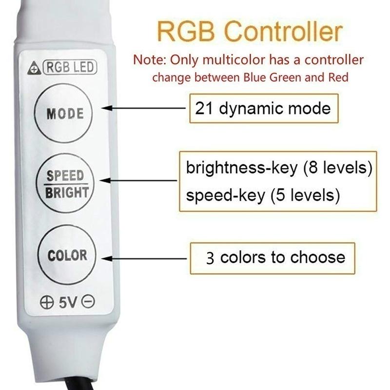 Ha7c12b84e2fc492bbef33bdfae325f09g - 5V USB TV LED Strip Light Lamp Tape 3528 SMD Diode Flexible HDTV TV Desktop Screen Backlight Decor RGB Bias Lighting 0.5M/1M