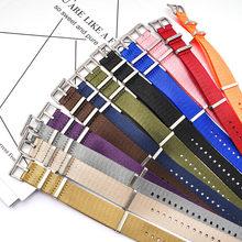 20mm 22mm 24mm náilon otan cinta zulu banda fivela de aço inoxidável masculino substituição pulseira relógio acessórios para omega sea master