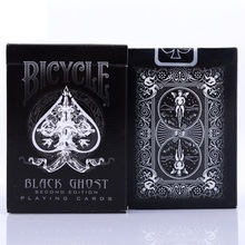 1pcs Ellusionist Bicycle Black Ghost Deck Magic Cards Playing Card Poker Close Up Stage Tricks for Professional Magician
