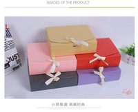 100pcs 26x17.5x3.5cm Large Gift Box Cosmetic Bottle Scarf clothing Packaging Color Paper Box with ribbon Underwear packing box
