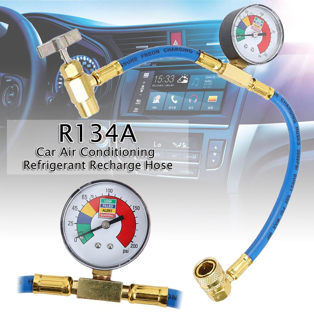 Перезарядка автомобиля измерительный шланг с манометром кондиционер хладагент газовая труба для автомобиля Авто AC кондиционер поставки П...