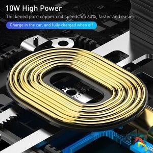 Image 3 - ROCK inteligentna na podczerwień 10W Qi bezprzewodowa ładowarka samochodowa do iPhone XR XS MAX Samsung szybkie bezprzewodowe ładowanie