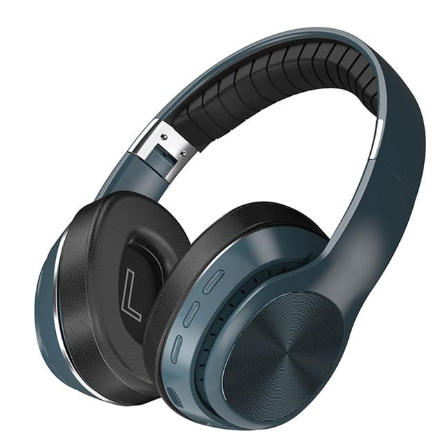 HiFi Wireless Headphones Bluetooth Foldable Headset Support TF Card FM Radio Bluetooth AUX Stereo Headset With Mic Deep Bass