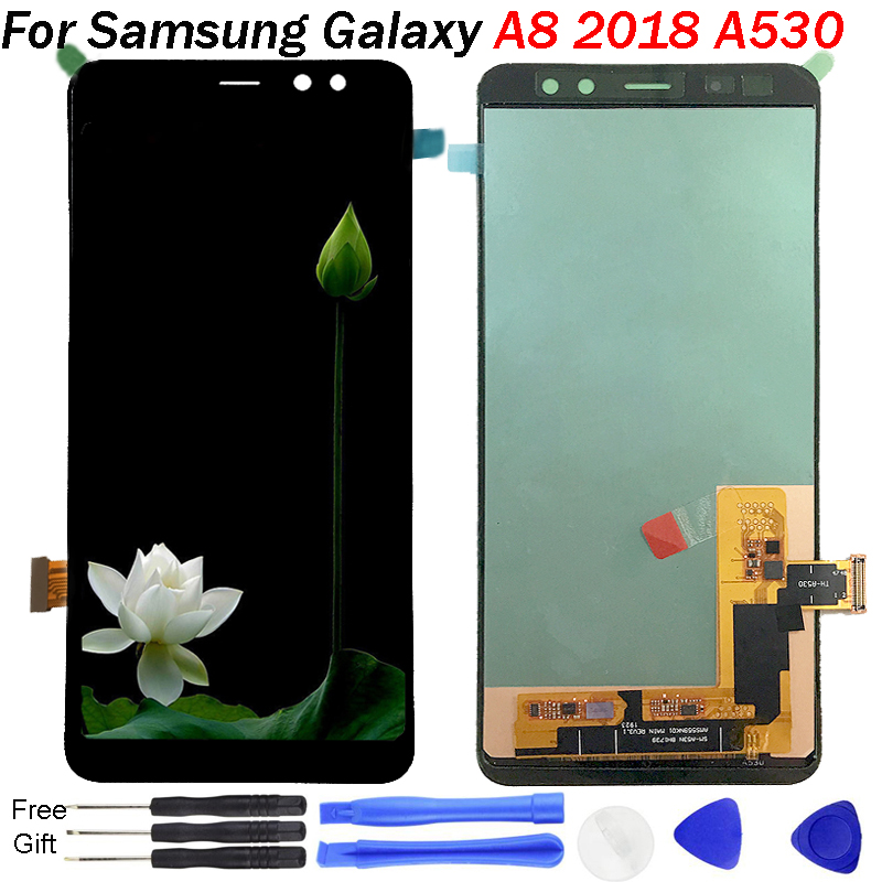 For Samsung Galaxy <font><b>A8</b></font> 2018 <font><b>Display</b></font> sm-A530F LCD <font><b>Display</b></font> Touch Screen Digitizer Assembly tools A530 <font><b>Display</b></font> For Samsung <font><b>a8</b></font> lcd image