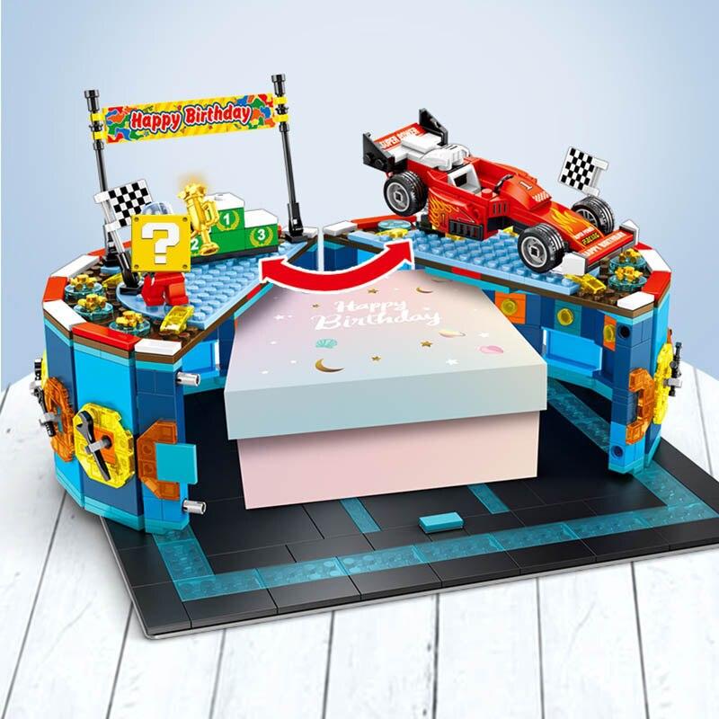 de corrida bolo de aniversário caixa de