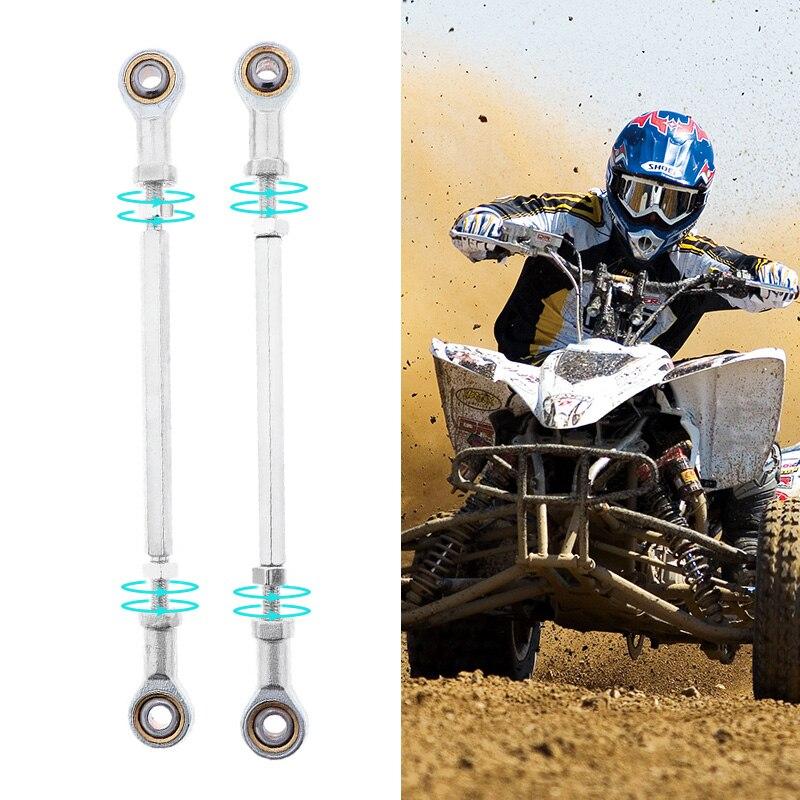 Adjustable ATV Steering Shaft Tie Rod Rack Kit & L & R Hand Tie Rod Ball Joint For ATV Quad Go Kart Etc Modified ATV Accessories