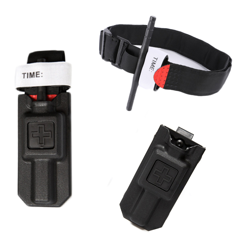 Tactical Combat Tourniquet Pouch Fast Hemostasis Military Medical Emergency Belt Aid For Outdoor Exploration Survival One Hand