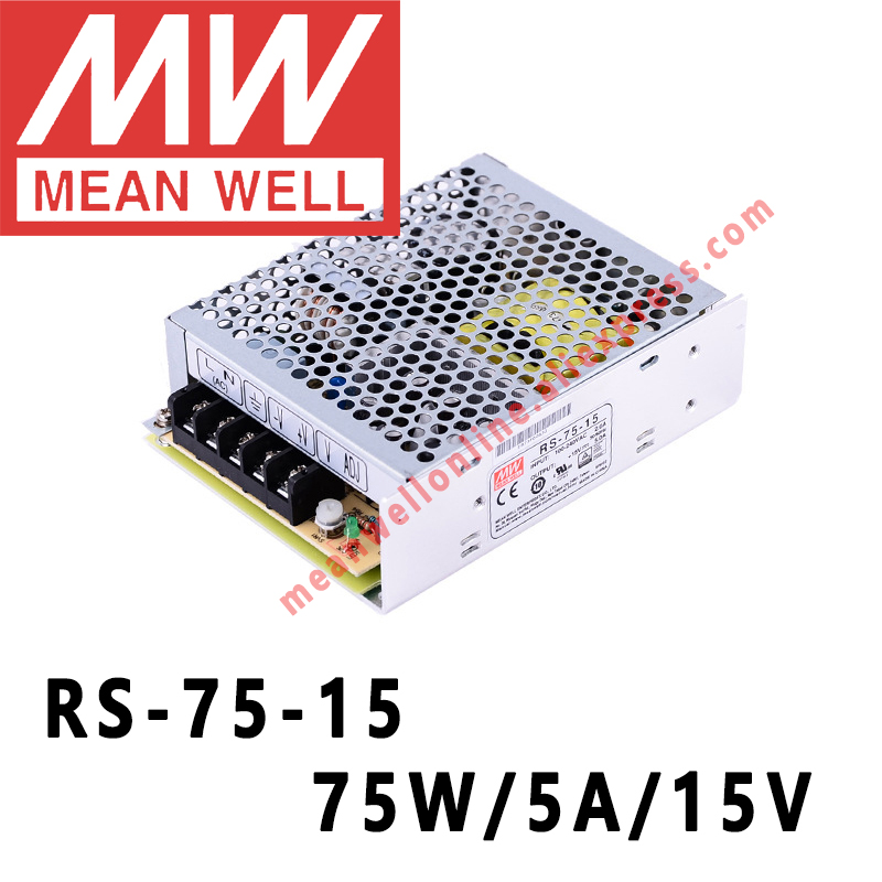 Rs 75 15 Mean Well 75w 5a 15v Dc Single