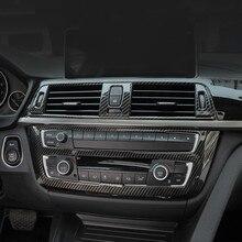 Углеродное волокно цветная консоль CD панель декоративная рамка накладка наклейка для BMW 3 4 серии 3GT F30 F32 F34 аксессуары для интерьера