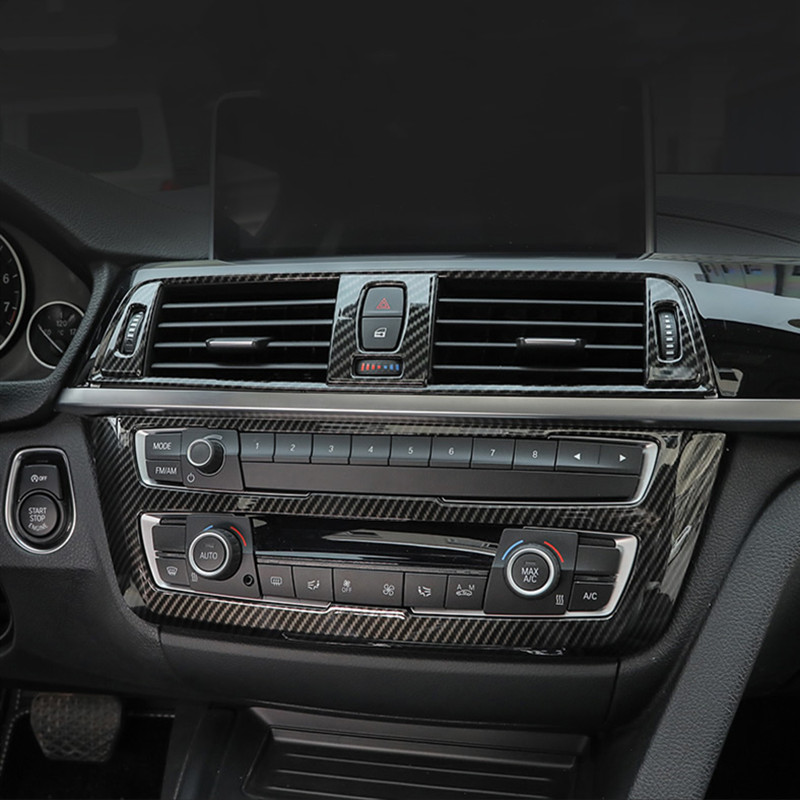 Fibra de carbono Color Console CD Panel decoración marco cubierta pegatina para BMW 3 4 Series 3GT F30 F32 F34 accesorios interiores Nuevo Multi Color USB Iluminación led interior de coche Kit atmósfera luz neón lámparas