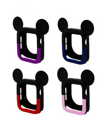 MIc Key Watch Cover Case For Apple Watch 4 5 6 40MM 44MM CUTE Mouse Protect Soft Silicone Cases For Iwatch Series 4 5
