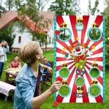 Engraçado jogar sacos de feijão jogo de brinquedo sacos de feijão seguro jogando jogando sacos para adultos crianças tema ao ar livre festa de carnaval jogos brinquedos