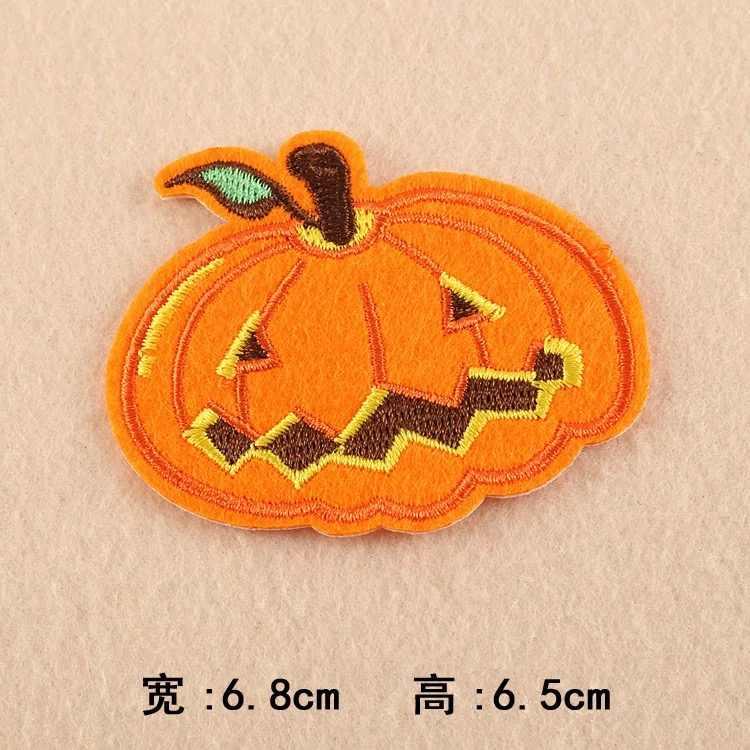 1 pçs halloween mas abóbora bordado para roupas diy caso jaqueta decorativa apliques ferro-no remendo para roupas