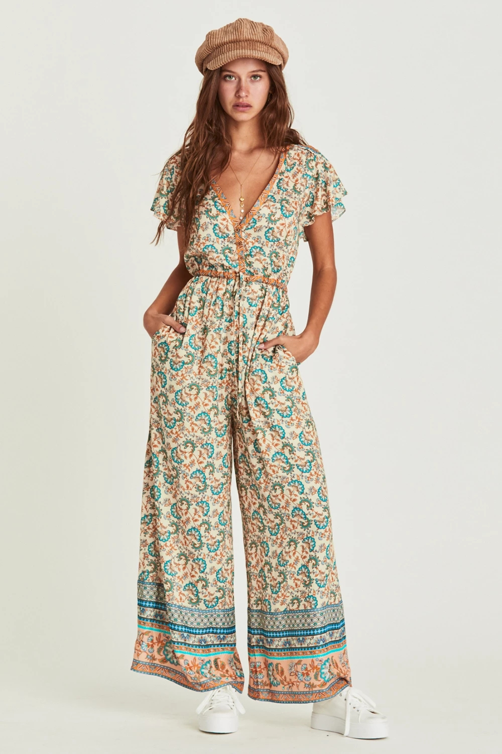 Wide Leg Pants Rompers Womens Jumpsuit Summer Boho Beach vintage Playsuit