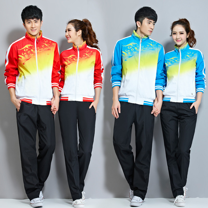 815 Men And Women Sports Set New Style Spring And Autumn Long Sleeve Casual Wear Couples Teenager Students Sports Clothing