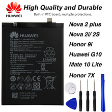 Original Huawei HB356687ECW Phone battery For Huawei Nova 2 plus / Nova 2S / Nova 2i Honor 9i Huawei G10 Mate 10 Lite Honor 7X laser tempered glass case for huawei p20 lite p30 pro honor 8x play v20 v10 v9 9i 9 10 y9 2019 nova 3 3i 4 2s mate 20 pro cover