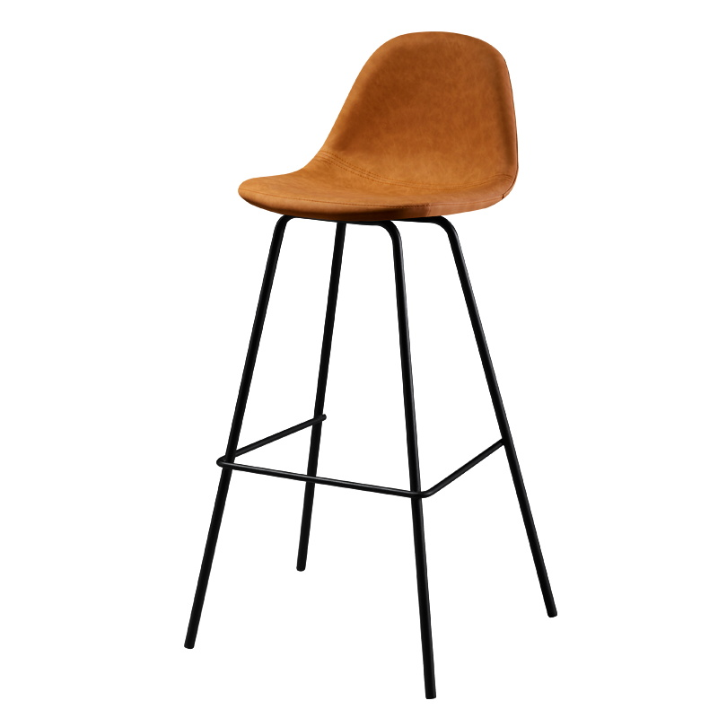 Bar Chair Modern Minimalist Back Metal Bar Chair Tea Restaurant Home Wrought Iron High Stool Height 75cm