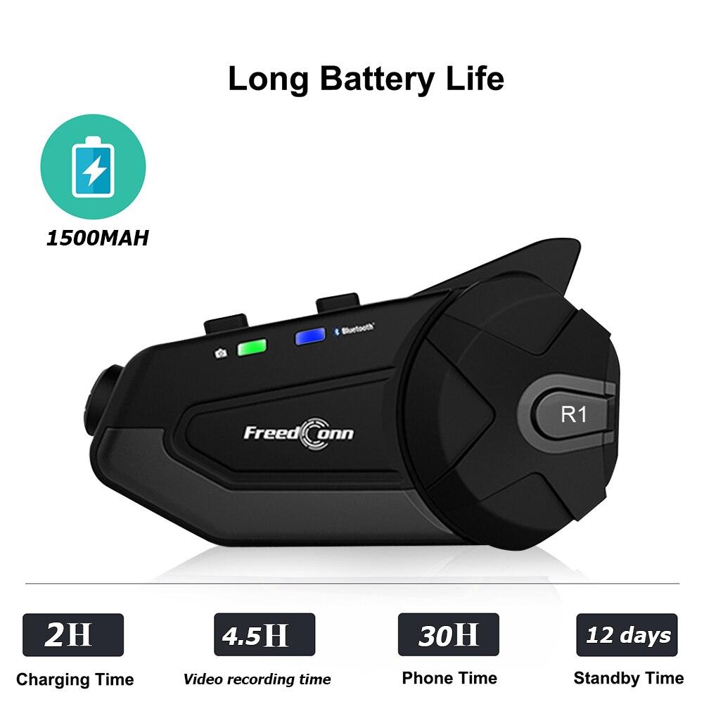 R1 1080P HD Camera Motorcycle WiFi Bluetooth 4.1 Helmet Headset Intercom Video Capture WIFI Transmission Viewing Accessories