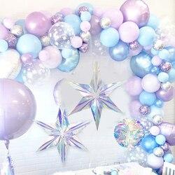 Shiny Laser Party Diy Opknoping Ornament Star Hanger Verjaardag Bruiloft Baby Shower Supplies Frozen Party Winter Kerst Decor