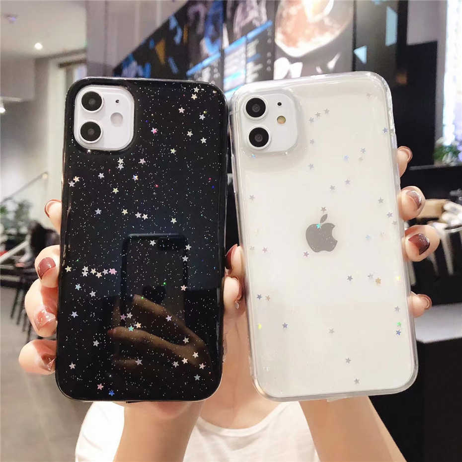Qianliyao Voor iphone 11 Pro Max 7 8 case Bling Glitter Case Voor iphone 6 6S 7 8 PLus X XS Max XR Case Silicon Soft Cover