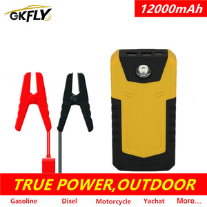 GKFLY 12000mAh Car Jump Starter 12V Portable Starting Device Power Bank Car Battery Charger Petrol Diesel Booster CE