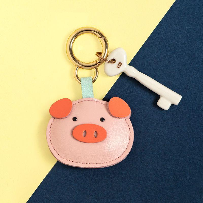 Купить новый креативный кожаный брелок для ключей с изображением животных