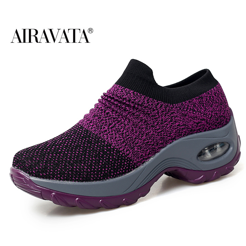 Purple-Women's walking shoes Fashion Casual Sport Shoes Platform Sneakers